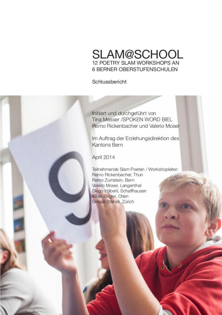 Schlussbericht Slam at School 2013/2014