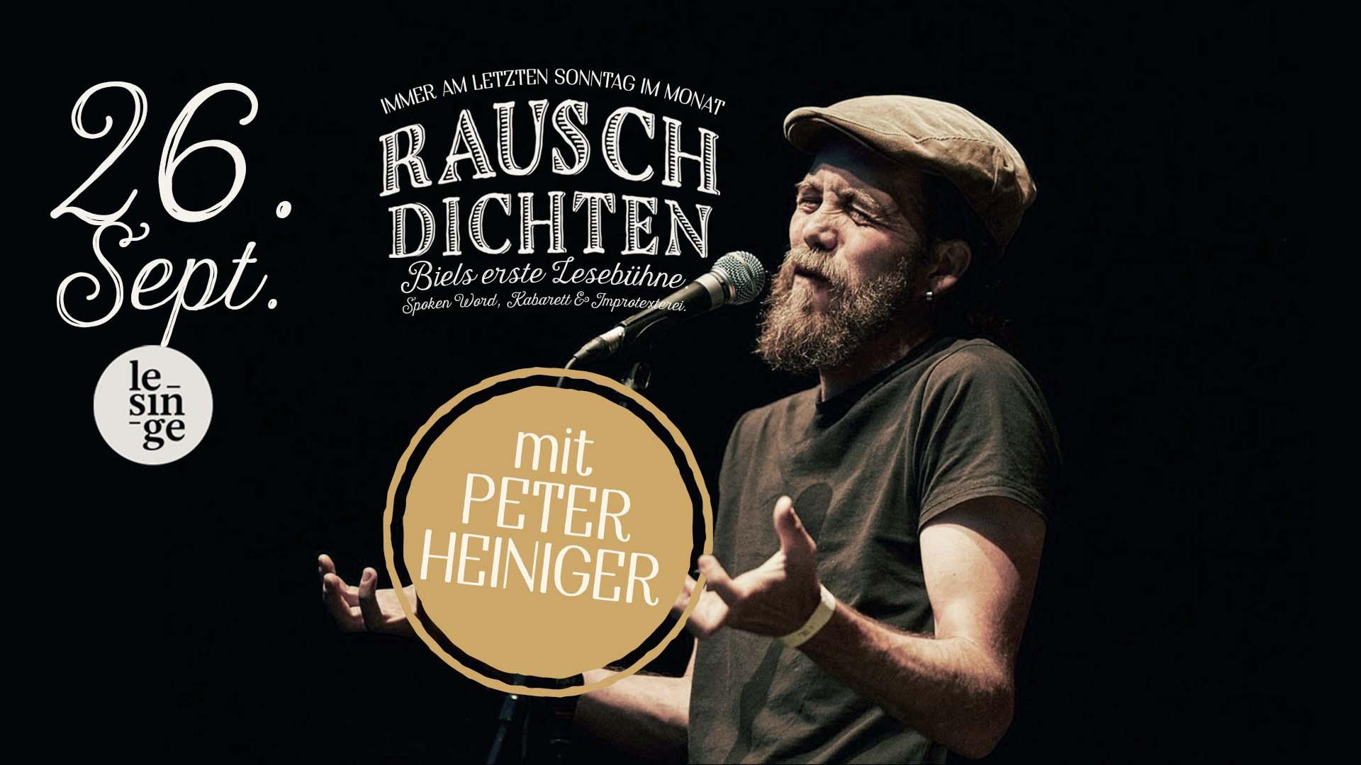 Rauschdichten mit Peter Heiniger